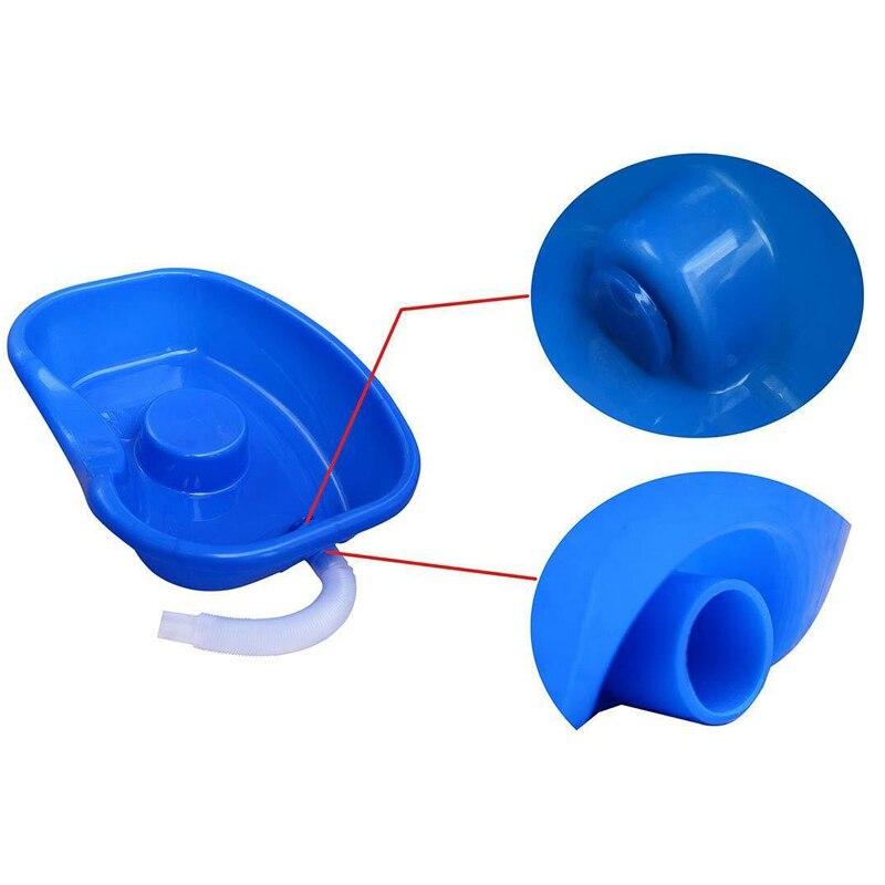 Medico Facile Da Letto Portatile Shampoo Bacino di Lavaggio Dei Capelli Bacino Vassoio per I Disabili Le Donne Incinte Tubo di Plastica Tubo di Scarico del Lavandino