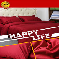 Luxury Design Flat sheet 1000 Thread Counts 100% Egyptian Cotton Solid Color 4 Pics Duvet Cover Set (Without Comforter)