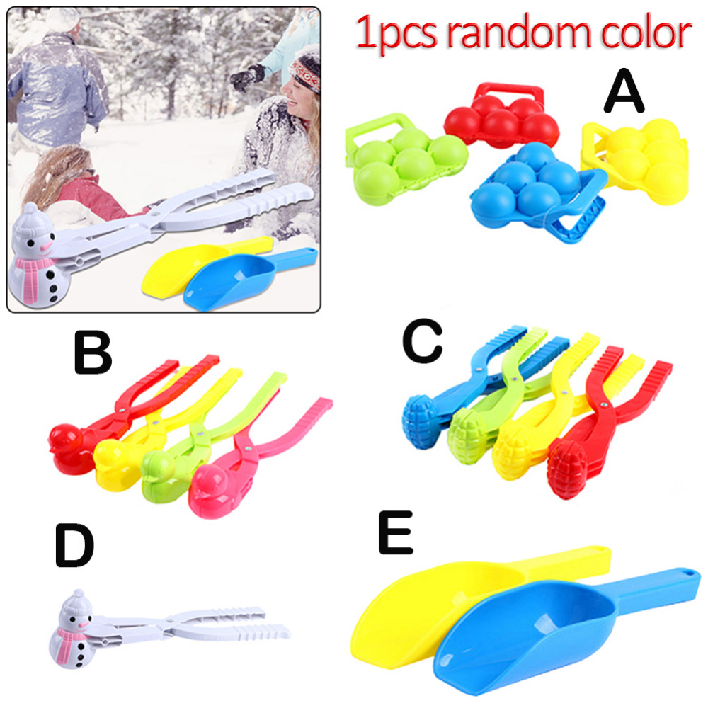 Outdoor Kinder Children Winter Toys Skiing Snowball Thrower Skiing Funny Toy