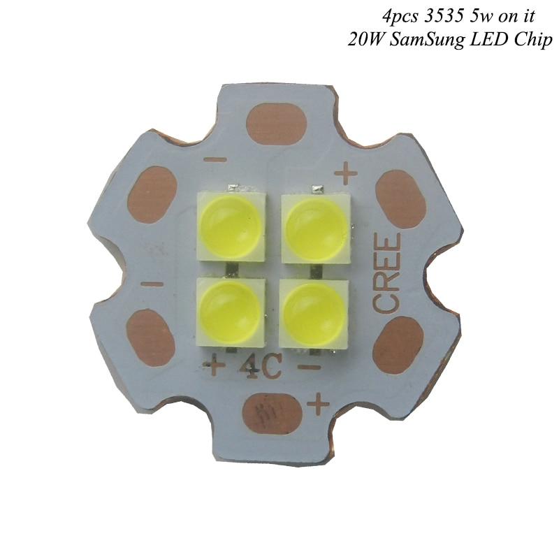 2016 NEW SamSung LED Cree XLamp 20W 6V 12V LED Emitter 2546lm@19W Cool White LED J2 1A Chip Light With 20mm Cooper PCB