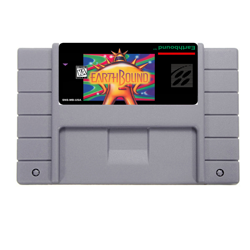 Big Promotion Earthbound Game Card For 46 Pin 16 Bit NTSC Game Player Save File!