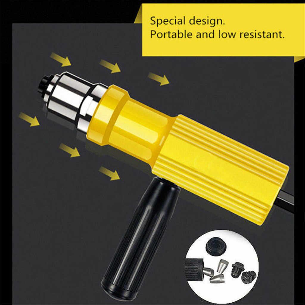 Elektrische Klinknagel Moer Draadloze Klinken Boor Adapter Klinkgereedschap Insert Moer Elektrische Nagelpistool en Nietmachine voor Meubels Nietpistool
