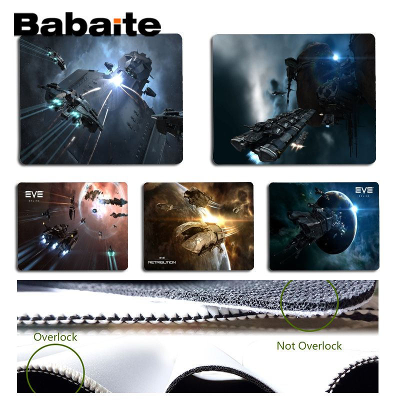 Babaite Boy Gift Pad EVE Online Silicone Pad to Mouse Game Size for 18x22cm 25x29cm Rubber Mousemats
