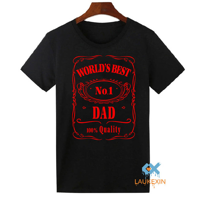Fathers Day T-Shirt Worlds Best Dad Papa Birthday Gift Daddy Present Pappa Mens T Shirt Funny Cool Tops Tee Shirts Plus Size