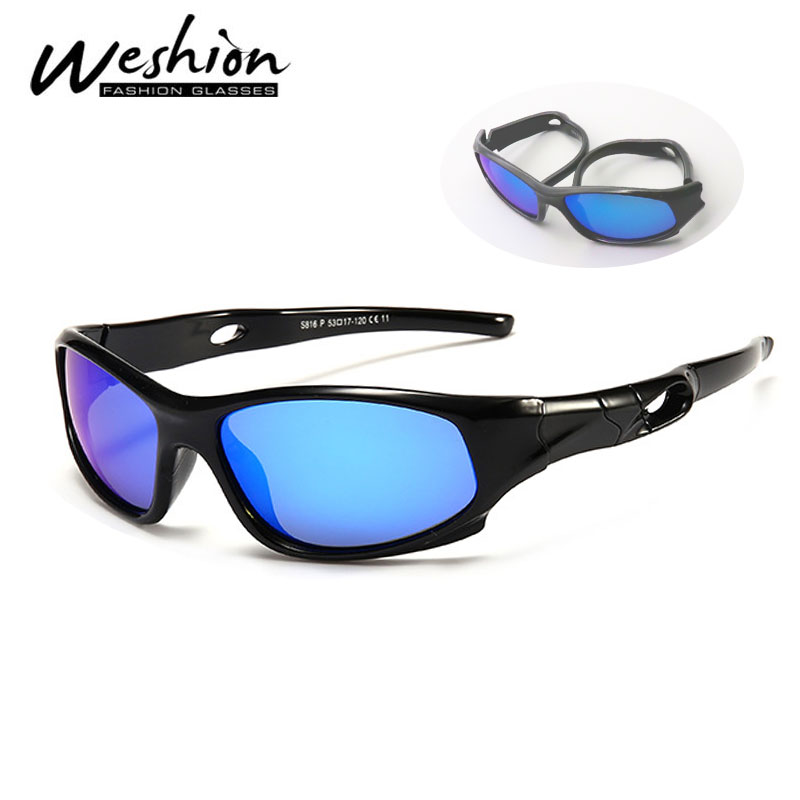 Sport Sunglasses Oculos Spectacles Outdoor Girl Kids Polarized Flexible Children UV400