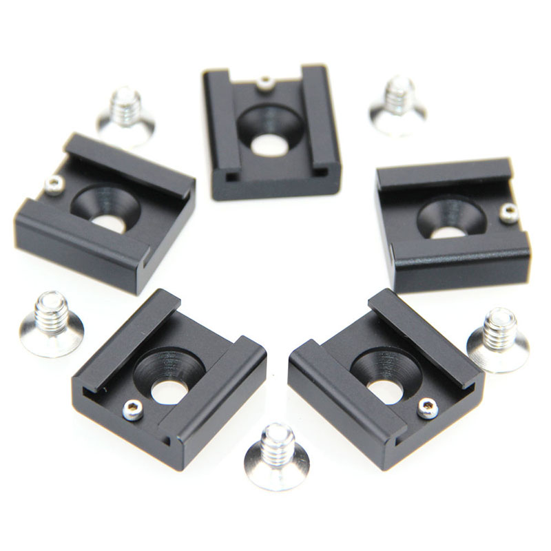"CAMVATE 5PCS 1/4"" Hot Cold Shoe Mount For Blackmagic DSLR Rig Flash Light Cinema Camera Cage Fotografica Accessories C0994"