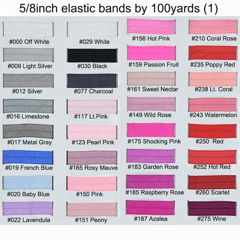 200 yards lot hair fashion accessories 5 8 elastic over fold headbands for shabby