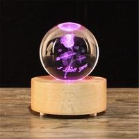 Christmas Gift Snow Globe Crystal ball music box, wooden Bluetooth speaker