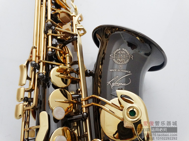 Free Shipping New Wholesale Henri alto saxophone R54 instruments Reference 54 bronze Black Nickel Gold alto sax tenor saxophone free shipping selmer instrument saxophone wire drawing bronze copper 54 professional b mouthpiece sax saxophone