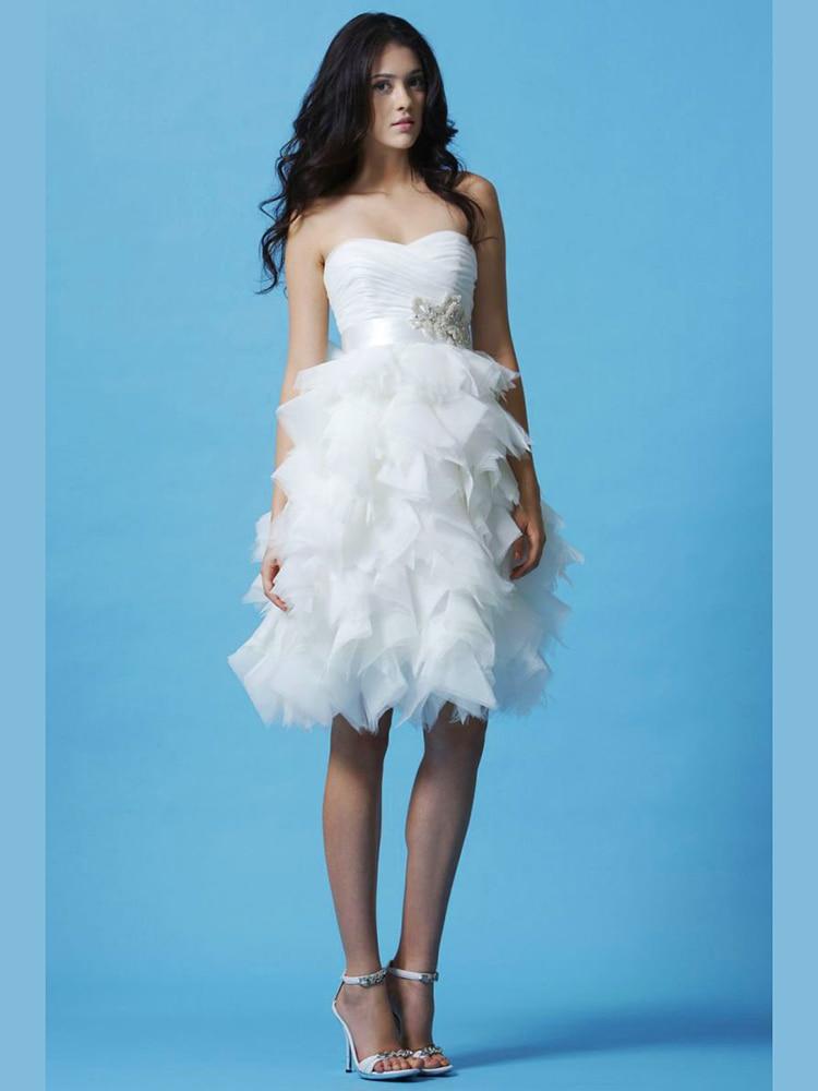 Tube top princess short skirt wedding dress sweet Wedding Gown-in ...