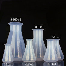 100ml/250ml/500/1000/2000ml Plastic erlenmeyer flask conical flask bottle for laboratory tests