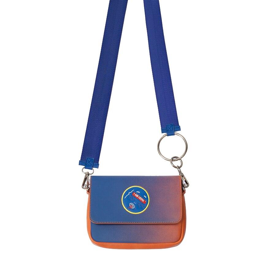 KOMESHOP PU bordado de cuero y bolsas de mensajero impresas para - Bolsos - foto 1