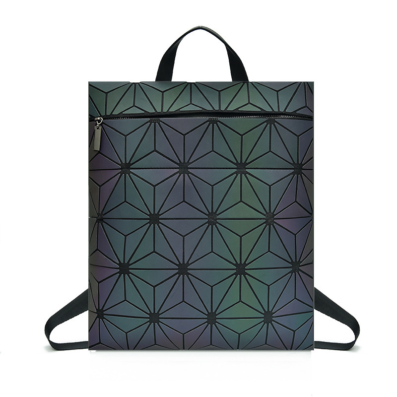 New Women Backpack Geometric Luminous Backpack Female Package For School Bag For Teenage Girl Back Pack Holographic Backpacks