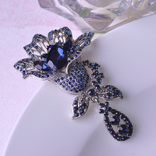 Brand Designer Big Flower Brooches For Women Elegant Rhinestone Wedding Shawl Hijab Pins c c womens brooch Colorful Jewelry uk
