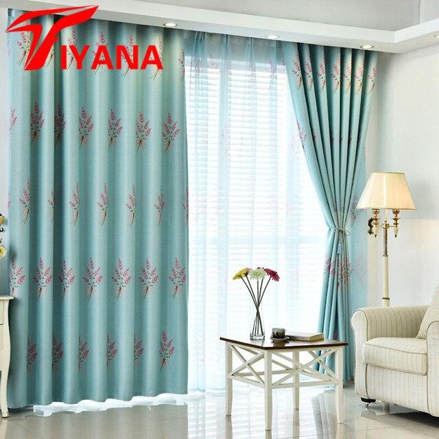 roodblauwgroene rustieke rromantic lavendel bloem schaduwdoek gordijnen woonkamer slaapkamer keuken raam gordijnen