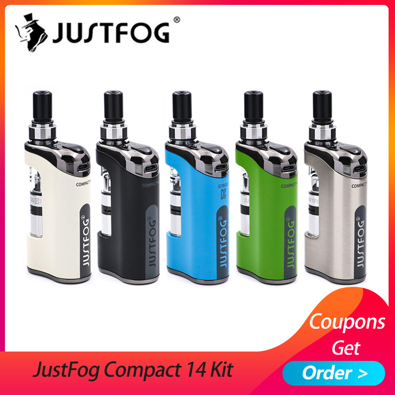 Auf lager E Zigarette JustFog Kompakte 14 Kit 1500 mah eingebaute batterie mit 5 PCS Justfog Spule vs Justfog Q16 /Q14 Kit