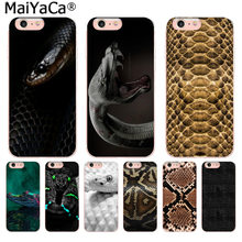MaiYaCa Animal Snake Crocodile Luxury Fashion Phone Case for iphone 11 pro 8 7 66S Plus X 10 5S SE XS XR XS MAX Coque Shell(China)