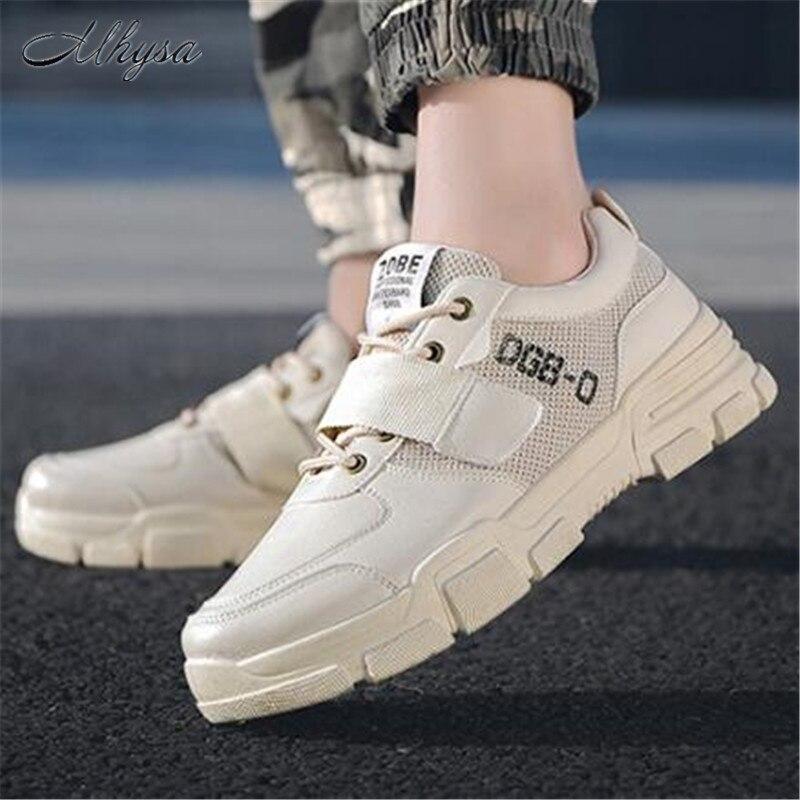 9c80fa0ca8 ¡mhysa Zapatos De 2019 Ligeros Beige Casuales Y Transpirable negro blanco  Hombres Otoño Antideslizantes Nueva Primavera ...