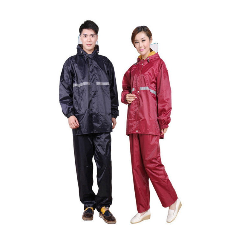 Women Rainwear Set Waterproof Thicken Split Raincoat for Men Transparent Protection Mask Hooded Womens Raincoat Long Coat XX5
