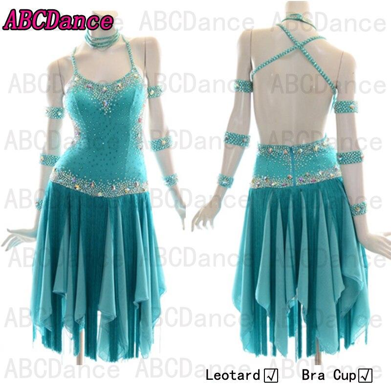 Hot-sale  Rumba Jive Chacha Ballroom Latin Dance Dress Girls Women ,Women Or Girl Skirt Latin Dance,DMC Stones  Latin Dress
