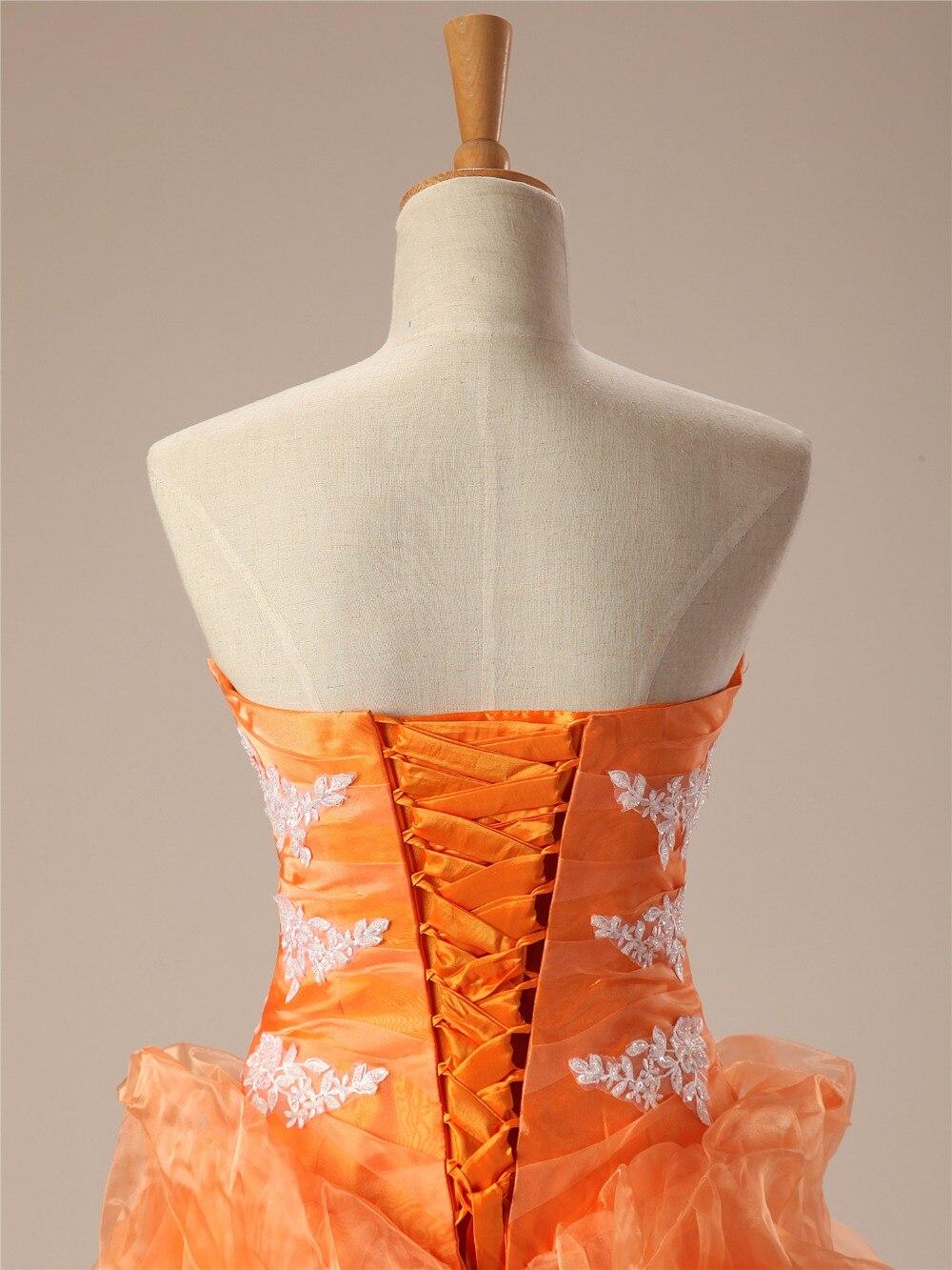 Cheap Quinceanera Dresses Orange Sweetheart Appliques Lace Vestidos De 15 Anos Ball Gown Sweet 16 Dresses Debutante Gown - 5