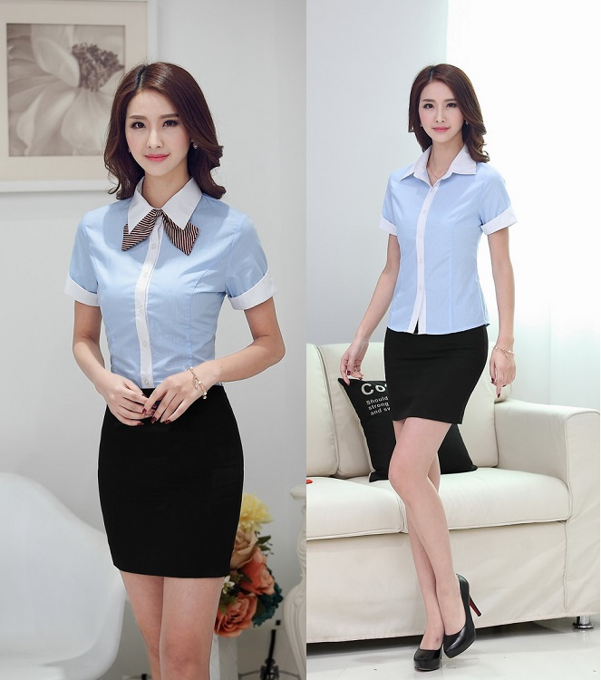 wholesale office uniform design women blouse from china office uniform