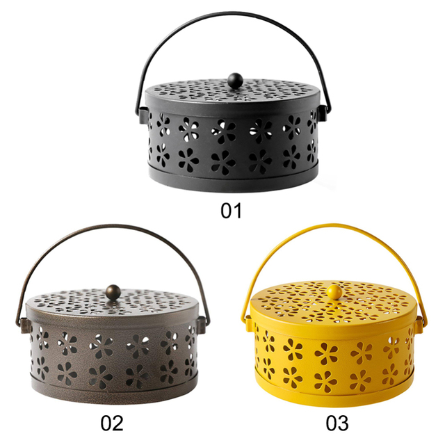 New Arrival Mosquito Coil Holder Retro Mosquito Incense Burner Metal Incense Burner Holder for Home and Camping Garden