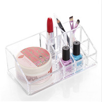 1Pcs Display Lipstick Holder Acrylic Cosmetic Organizer Stand Clear Makeup Organizer Storage Container Makeup Case