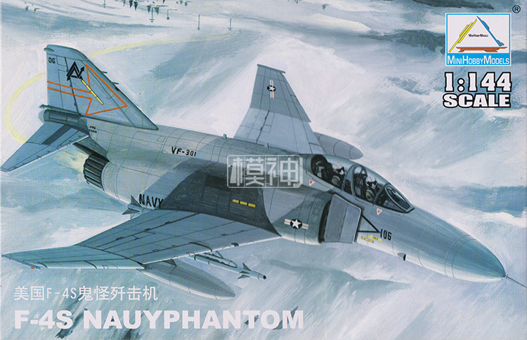 1:144 USA F-4S NAUYPHANTOM Fighter Air Force Military Assembled Aircraft Model 80419