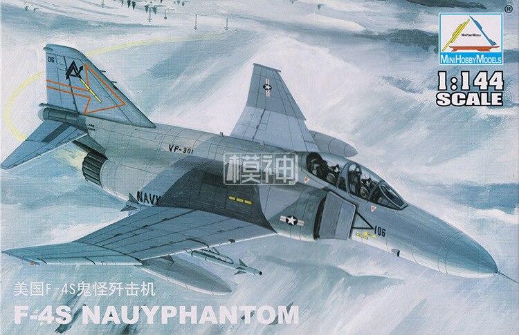 1:144 USA F-4S NAUYPHANTOM Fighter Air Force Military Assembled Aircraft Model 80419