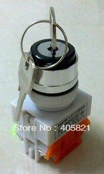 1N/O + 1N/c 2 положения ключа Поддержкой Выберите кнопочный переключатель селектора LAY37-11Y2/Y090-11Y2 монтажного отверстие 22 мм