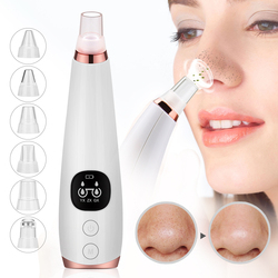 Blackhead removedor de cuidado de la piel poro de acné grano eliminación de succión al vacío de herramienta Facial diamante dermoabrasión máquina cara limpia