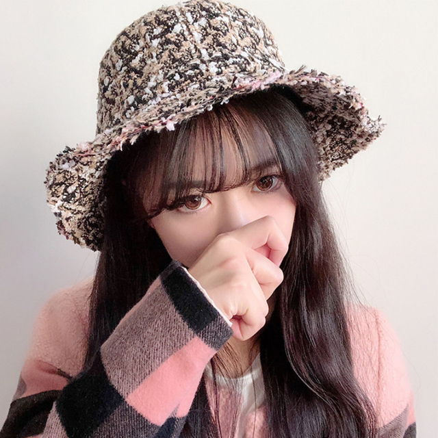 HT2037 New Autumn Winter Hats for Women Flat Top Ladies Hat Bucket Vintage  Retro Knitted Fisherman Cap Female Panama Bucket Hats 4ffe8d440194