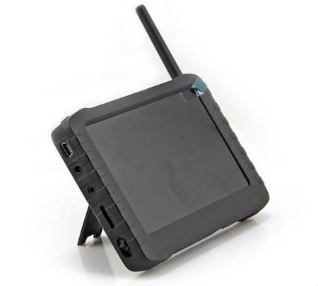 1.2Ghz 2.4Ghz 5.8Ghz Penerima Wireless Portable dengan Penerima Video FPV 5 inci Sokongan LCD Monitor 32GB TF Card