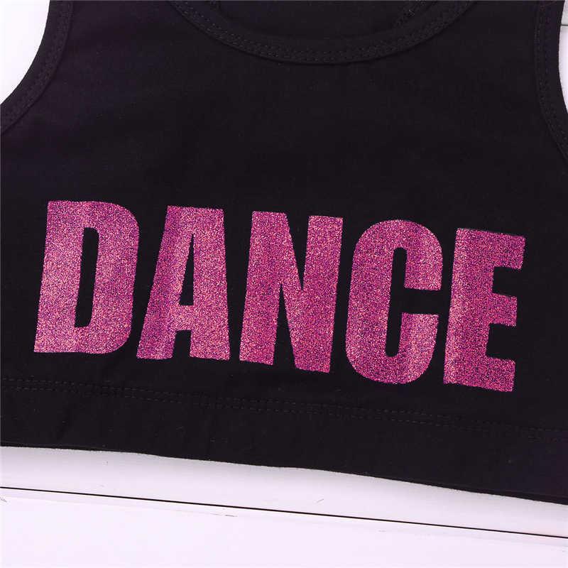 ranrann Kids Girls Sport Bra Top Solid Color Sleeveless Basic Ballet Dance Crop Top Tanks for Active Workout