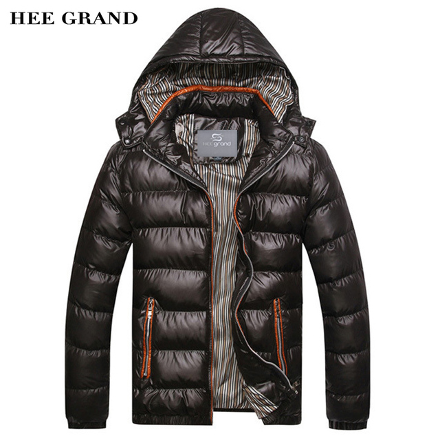 HEE GRAND 2017 New Arrival Men Winter Fashion Casual Down Parka Hooded  Man Coat Jacket Windproof High Quality Plus Size MWM516