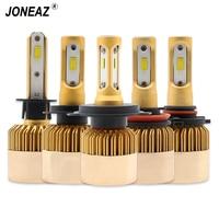 JONEAZ 2Pcs H4 LED H7 H11 9006 HB4 H1 9005 HB3 Car Headlight Bulbs CSP Lamp