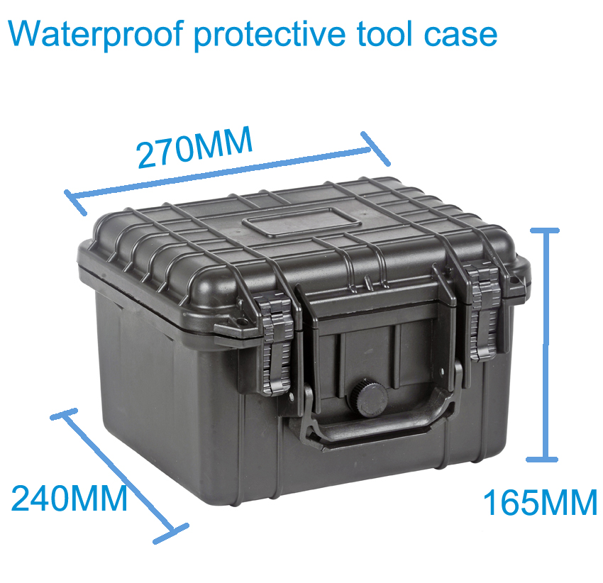 Tool case toolbox suitcase Impact resistant sealed waterproof plastic case equipment box camera case Meter box with pre-cut foam tool case toolbox suitcase impact resistant sealed waterproof abs case 490 333 132mm camera case equipment box with pre cut foam