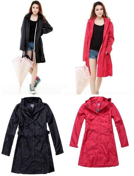 Mujeres Impermeable de moda Mujer de chaqueta 2015 lluvia Para r1Iqrd