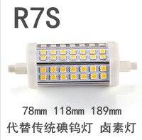 6 шт./лот 85-265 В 7 Вт 9 Вт 10 Вт 12 Вт 15 Вт r7s светодиодные лампы SMD 5050 Светодиодная прожектор чип теплый/холодный белый Бесплатная доставка