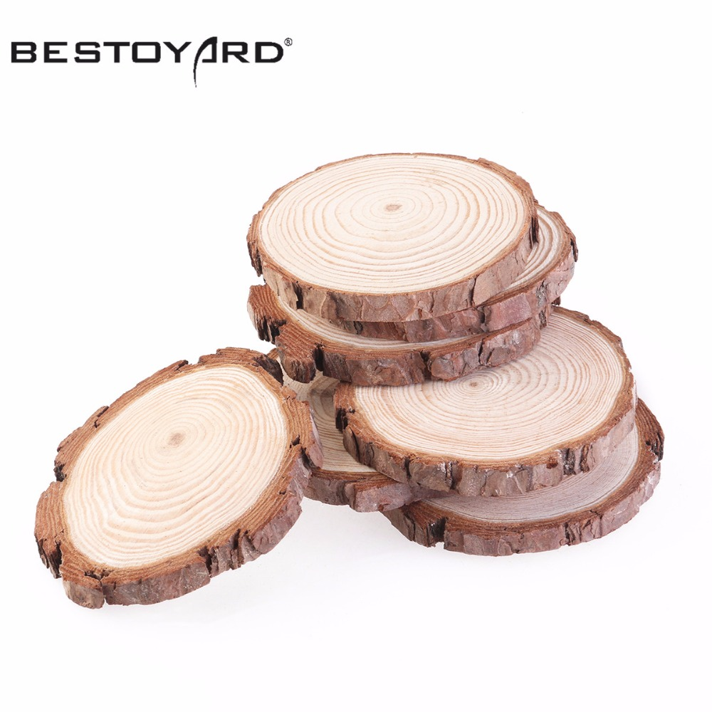 Pcs cm wood log slices christmas birthday baby shower