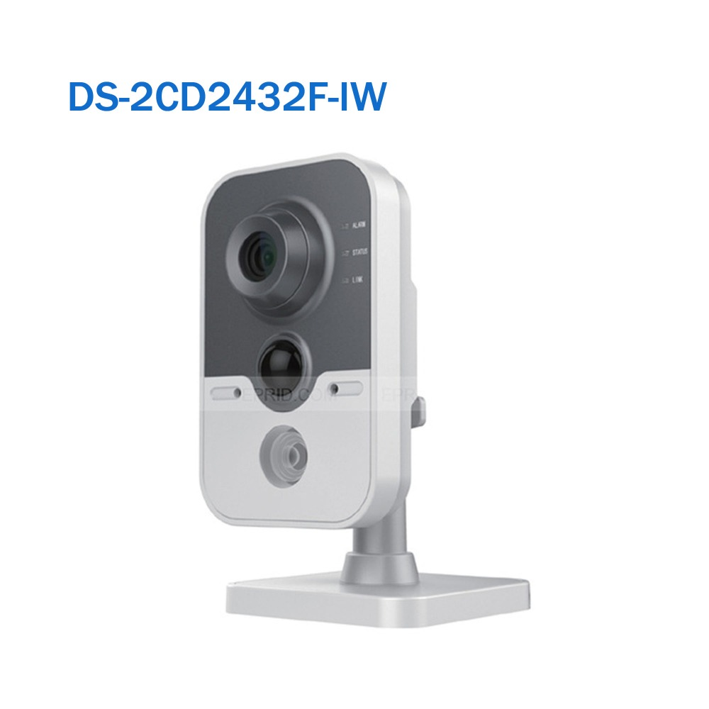 US Stock Hikvision DS-2CD2432F-IW 3MP Wireless Cube Network Camera 10m IR Built in Mic Two ways Audio WiFi Kamera original english ds 2cd2432f iw hik 3mp ir cube ip network microphone wireless camera poe wi fi pir detection
