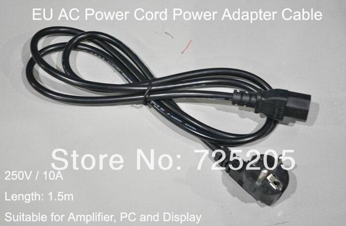 Ehrgeizig Ac Power Kabel Eu Power Adapter Kabel Mit 2 Prong Weibliche Power Stecker Schwarz 1,5 Mt Für Verstärker Diy Freies Verschiffen