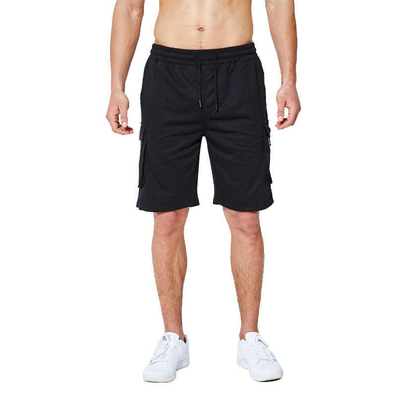 ยุโรปขนาดออกกำลังกายวิ่ง Tights ชาย 2019 กางเกงขาสั้นผู้ชายใหม่ Masculino Leisure ผ้าฝ้ายยุทธวิธีฤดูร้อนชายหาดสั้นกางเกงขาสั้นสินค้า