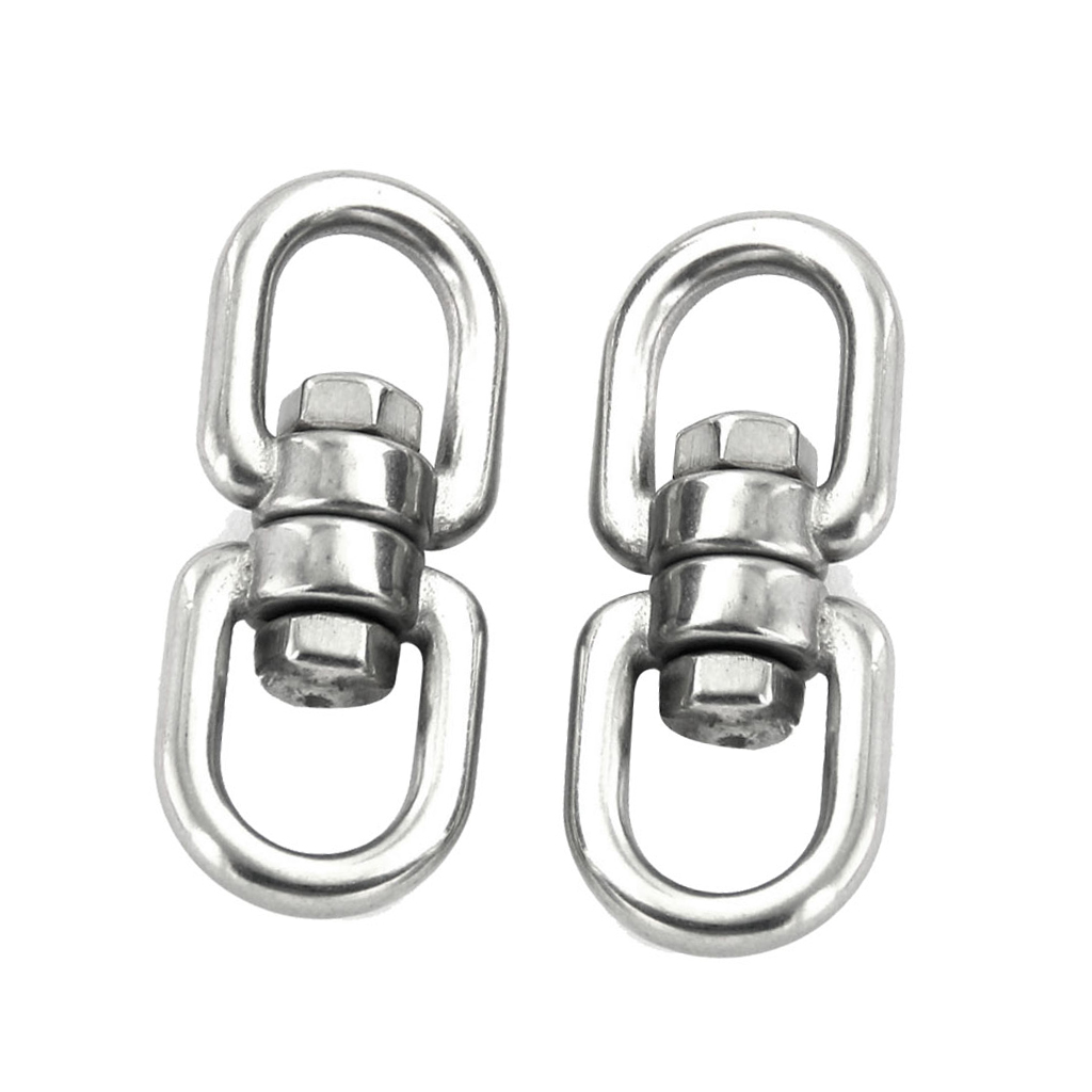 New 2pcs Mini Hook Carabiners Connect Buckles For Outdoor Climbing Hook Carabiner Rotating Carabiner