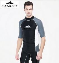 SBART Men's Quick-Dry Diving Suit Short Sleeves T-Shirts Wetsuit Swimwear Snorkeling Swimming Surfing Rash Guard Swimsuit UPF50+ sbart women surfing diving rash guards clothing swimming snorkeling wetsuit water sport upf50 tight t shirts tops swimsuit