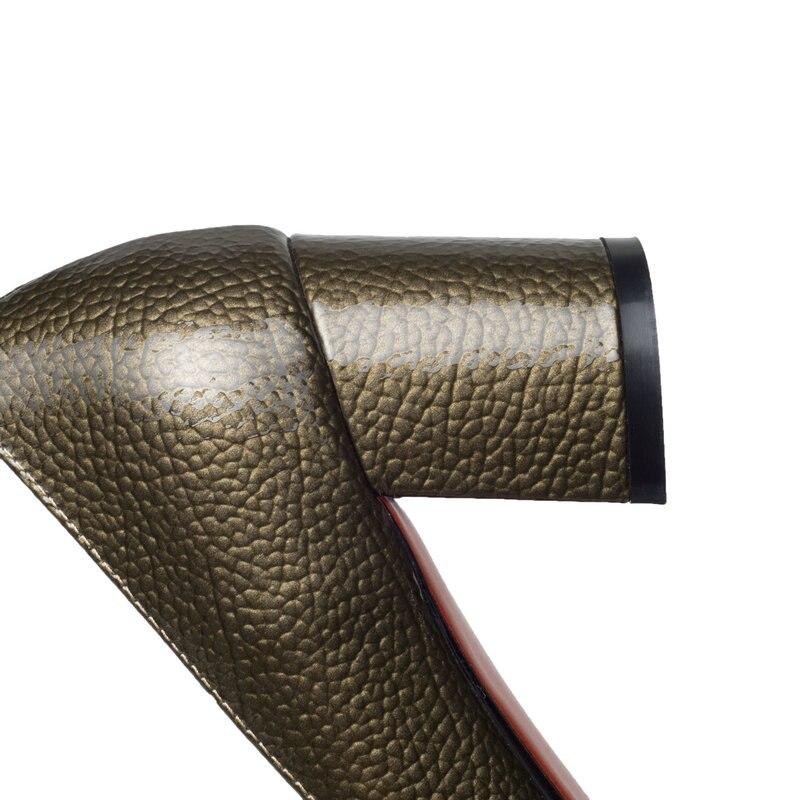 Talons Gris Hauts Mariage Femmes Mode Noeuds Tous Pointu Talon Soirée Printemps Match À Carré De Ol Pompes Bout Papillon rouge Automne Chaussures Les tQrshCd