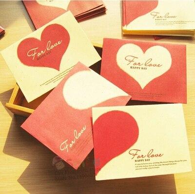 10pcslot Vintage Mini Romantic Red Heart Envelope Sweet Love
