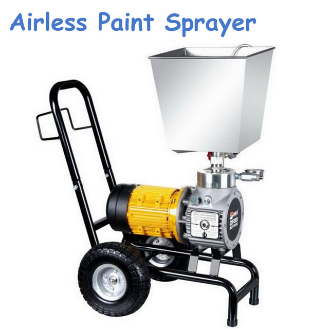 220V 1100W Electric Airless Paint Sprayer with Funneling 4-Wheels Sprayer for Decoration with English Manual DF325B