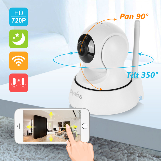 Wireless Home Security IP Camera with Night Vision 2